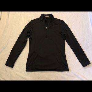 Black Athletic Pullover 1/4 Zip